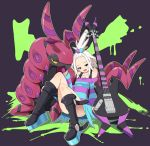 10s 1girl guitar gym_leader homika_(pokemon) instrument nintendo pokemon pokemon_(game) pokemon_bw2 scolipede tm_(hanamakisan) topknot white_hair