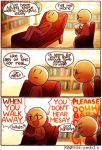 3koma comic couch doctor english glasses kataro kingdom_hearts lying lyrics original writing