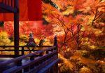 90s autumn baseball_cap gold_(pokemon) hat noctowl pokemon pokemon_(game) pokemon_gsc sitting takapiroporo trees