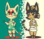 ankha_(animal_crossing) cat character_request doubutsu_no_mori dress egyptian furry pattern