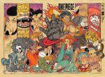 brook carrot_(one_piece) furry gear_fourth inuarashi_(one_piece) kinemon momonosuke_(one_piece) monkey_d_luffy nami_(one_piece) nekomamushi oda_eiichirou official_art one_piece sanji tony_tony_chopper