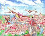 bridge city flying no._017 paper pidgeotto pidgey pokemon river water