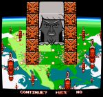 america continents continue donald_trump earth fake_screenshot game_console mark missile nes no_humans pixel_art real_life space totem_pole wall
