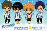 4boys chibi cover free! hazuki_nagisa male_focus multiple_boys nanase_haruka_(free!) official_art ryuugazaki_rei tachibana_makoto