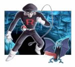 90s boots cave gloves golbat hat hiroki_eiki npc_trainer poke_ball pokemon pokemon_(game) pokemon_rgby team_rocket team_rocket_grunt uniform whip