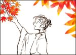 androgynous do_do_goki forest leaves nature original outdoors simple_background solo yayoi_period