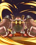glowing glowing_eyes goggles goggles_on_head helmet kirby kirby:_planet_robobot kirby_(series) looking_at_viewer mecha nintendo no_humans solo