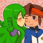 1boy 1girl endou_mamoru female inazuma_eleven inazuma_eleven_(series)