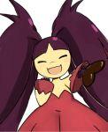 black_hair chocolate closed_eyes heart mawile mega_mawile nintendo no_humans pokemon pokemon_(game) smile tagme valentine