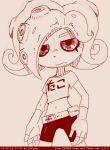 1girl itimu monochrome simple_background sketch solo splatoon tagme takozonesu