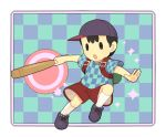 1boy baseball_bat black_hair cap mother_(series) ness nintendo short_hair solo