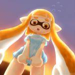 child erusuifu inkling nintendo open_mouth splatoon squid squid_girl