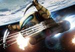 bonyama explosion gundam mecha missile mobile_suit_gundam space weapon zakrello zeon