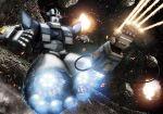 bonyama explosion firing gundam mecha mobile_suit_gundam space weapon zeon zeong