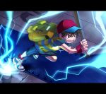 1boy backpack bag black_hair cap mother_(series) ness nintendo short_hair