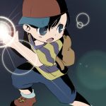 1boy black_hair cap mother_(series) ness nintendo short_hair solo