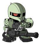 artist_request chibi gatling_gun gun gundam mecha mobile_suit_gundam weapon zaku zaku_i