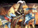 coat houndoom ivan_(ffxazq) manectric ninetales pokemon pokemon_(game) robe tagme