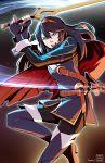 1girl blue_hair cape fingerless_gloves fire_emblem fire_emblem:_kakusei gloves looking_at_viewer lucina lyn_(shunao) nintendo open_mouth sheath solo sword tiara