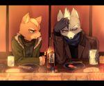 2boys annoyed fox_mccloud furry multiple_boys nintendo star_fox wolf_o'donnell