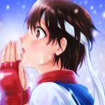 1girl brown_hair kasugano_sakura short_hair spioka street_fighter