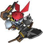artist_request axe gundam gundam_ms_igloo mecha weapon ze'gok
