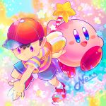 2boys child company_connection crossover hal_laboratory_inc. hoshi_no_kirby kirby kirby_(series) mother_(series) mother_2 multiple_boys ness nintendo ohmoto_makiko pink_puff_ball seiyuu_connection super_smash_bros. super_smash_bros_64 super_smash_bros_brawl super_smash_bros_melee