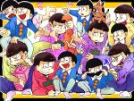 6+boys angry black_border black_hair border box brothers cat child closed_eyes dual_persona flying_sweatdrops heart heart_in_mouth hood hoodie lying male_focus matsuno_choromatsu matsuno_ichimatsu matsuno_juushimatsu matsuno_jyushimatsu matsuno_karamatsu matsuno_osomatsu matsuno_todomatsu multiple_boys on_side osomatsu-kun osomatsu-san outside_border pulling restrained sextuplet_(osomatsu-kun) sextuplets shorts siblings sitting_on_shoulder smile sudare_(sudare310) time_paradox wavy_mouth wing_collar
