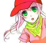 bandana baseball_cap green_eyes hana hat manimani_(mani_ma) open_mouth pangya