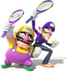 mario_tennis mario_tennis:_ultra_smash official_art super_mario_bros. waluigi wario