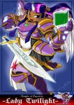 armor dark_skin my_little_pony my_little_pony_friendship_is_magic personification purple_hair shonuff44 sword