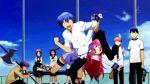 angel_beats! animated animated_gif blue_hair hinata_(angel_beats!) multiple_boys multiple_girls pink_hair school_uniform violence yui_(angel_beats!)