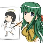 1girl angel angel_wings halo hidamari_sketch kaneri matsuki_miyu smile solo wings yoshinoya ||_||