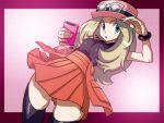 10s 1girl aruni blonde_hair blue_eyes breasts female hat long_hair nintendo pokedex pokemon pokemon_(game) pokemon_xy serena_(pokemon) skirt