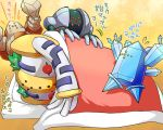 kamiura lying monster nintendo no_humans pillow pokemon pokemon_(game) regice regigigas regirock registeel sleeping