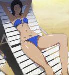 1girl bikini bra lying miyasato_(valkyrie_drive) solo stitched summer swimsuit underwear valkyrie_drive valkyrie_drive_-mermaid-