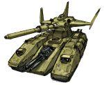 granada6343 gundam gundam_08th_ms_team magella_attack military military_vehicle mobile_suit_gundam no_humans tank vehicle zeon