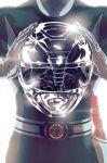 1boy backlighting belt bodysuit emblem gun head_out_of_frame helmet holster kyouryuu_sentai_zyuranger lens_flare power_rangers reflection shiny solo super_sentai weapon