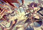 2girls armor combat kazto_furuya multiple_girls sword