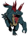 claws epic feraligatr fukurou_(owl222) full_body highres monster nintendo no_humans pokemon redesign reptile simple_background solo spikes tail white_background