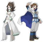 alternate_costume artist_request belt boots cape cosplay high_heels pokemon pokemon_(game) shirona_(pokemon) shirona_(pokemon)_(cosplay) touko_(pokemon) touya_(pokemon) wataru_(pokemon) wataru_(pokemon)_(cosplay)