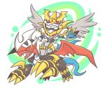 armor atusix bandai chibi claws digimon dragon fangs full_armor imperialdramon imperialdramon_paladin_mode monster no_humans tail wings