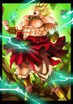 blank_eyes blonde_hair broly dragon_ball dragonball_z energy epic gauntlets hoshikawa_akira legendary_super_saiyan male_focus muscle smile super_saiyan