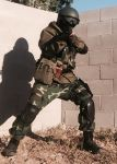 1boy ak-74 assault_rifle battlefield_(series) battlefield_4 camouflage camouflage_pants gorka-1 gun helmet load_bearing_vest military military_uniform pants photo rifle solo uniform weapon