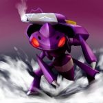 cannon genesect nintendo no_humans pokemon pokemon_(game) solo