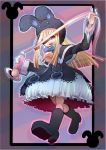 1girl boots duel_monster ebon_magician_curran hat looking_at_viewer orange_hair smile whip yu-gi-oh!