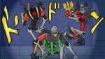bionicle crossover esidisi horns jojo_no_kimyou_na_bouken jojo_pose kars_(jojo) kulta lego mask multiple_arms no_humans parody pose ribs skeleton skull skull_basher skull_slicer the_lego_group wamuu