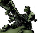 cannon gundam gundam_ms_igloo hildolfr mecha sauser tank