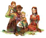 blonde_hair blue_eyes brown_hair claus facial_hair family flint hat hinawa long_hair lucas mother_(game) mother_3 scarf smile spoilers