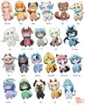 androgynous artist_name artist_request cat copyright_request dog dragon everyone fox furry raccoon red_panda sheep simple_background white_background wolf
